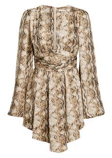 Ronny Kobo Orzora Snake Print Mini Dress