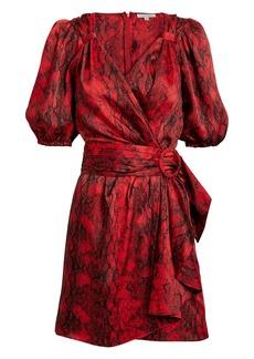 Ronny Kobo Torrey Snakeskin-Print Mini Dress