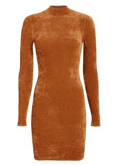 Ronny Kobo Verde Chenille Mini Dress