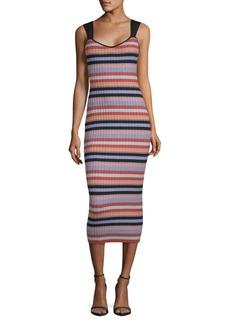 Ronny Kobo Yaela Striped Bodycon Dress