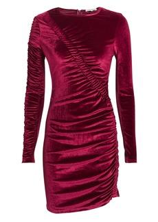 Ronny Kobo Yarden Dark Red Velvet Dress