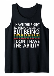 Lithuanians Roots Pride Lithuanian Flag Lithuania Gift Tank Top