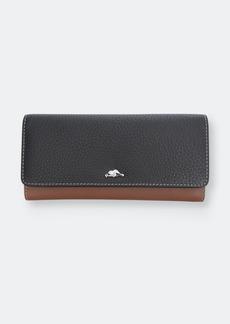 Roots Ladies Leather Rfid Slim Clutch Wallet