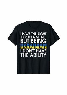 Ukrainian Roots Pride Ukraine Flag Ukrainians Gift T-Shirt T-Shirt