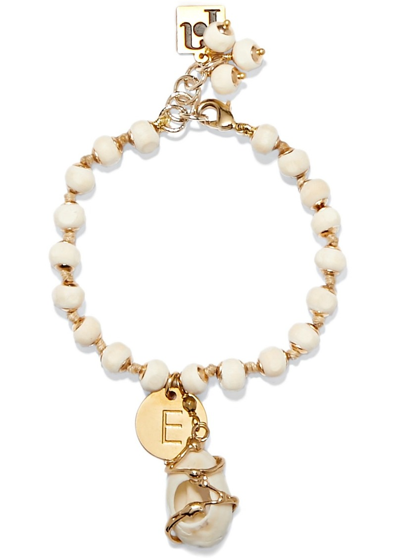 Rosantica Alphabet Gold-tone And Shell Beaded Bracelet