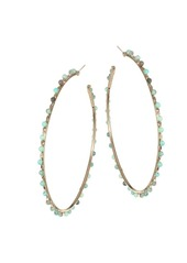 Rosantica Angola Light Green Beaded Hoops