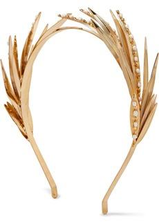 Rosantica Apache Gold-tone Pearl Headband