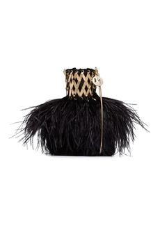 Rosantica Aramis feather bag