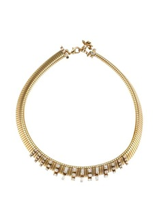 Rosantica Argo Goldtone & Crystal Chain Link Choker Necklace