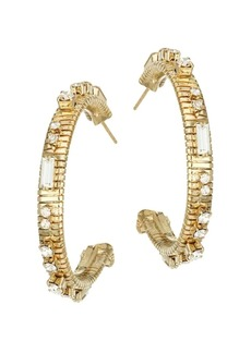 Rosantica Argo Goldtone Crystal Hoop Earrings
