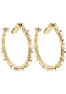 Rosantica Argo Hoop Earrings W/ Crystals