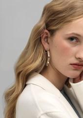 Rosantica Argo Hoop Earrings W/ Crystals