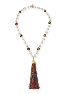 Rosantica Arlecchino Rainbow Tassel Y-Drop Necklace