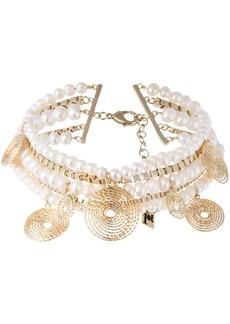 Rosantica Armonia pearl twisted chain choker