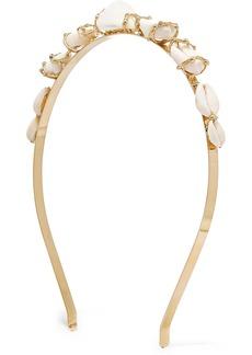 Rosantica Beatrix Gold-tone Shell Headband