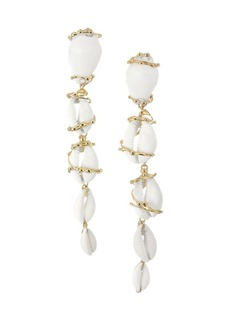 Rosantica Beatrix Shell Linear Clip-On Earrings