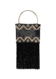 Rosantica black janice bead tassel bag