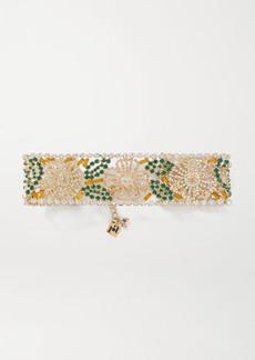 Rosantica Briscola Gold-tone Crystal Choker
