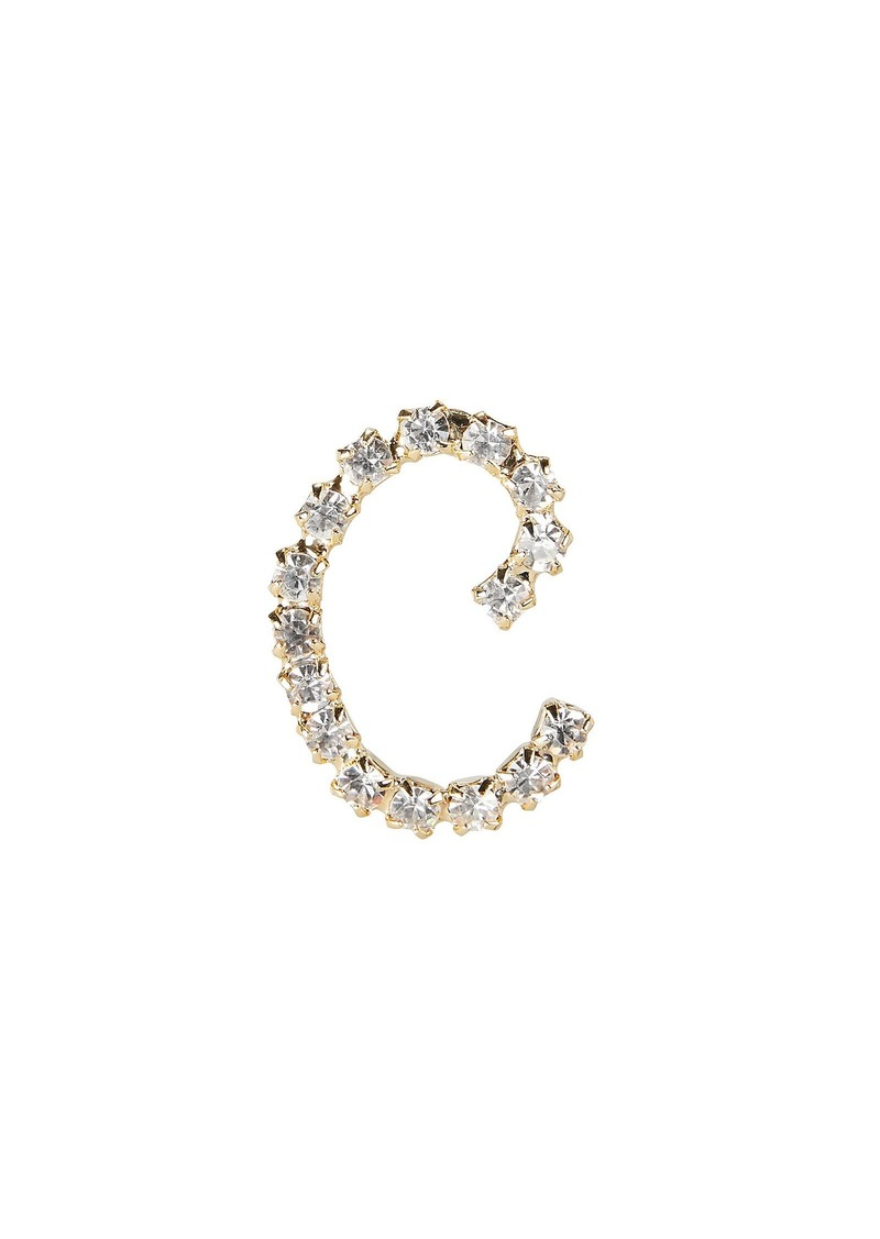 Rosantica C Lettere Crystal Initial Earring