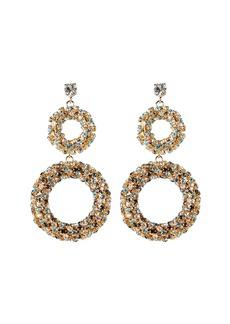 Rosantica Caos Crystal Ring Drop Earrings