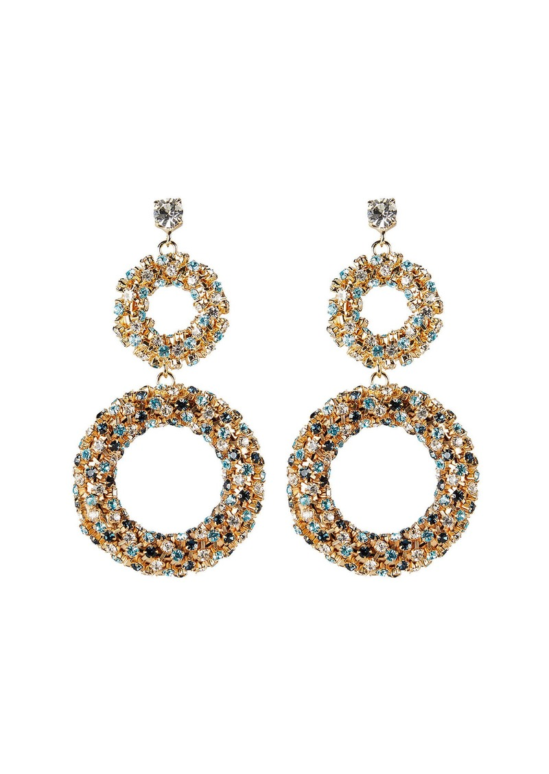 Rosantica Caos Crystal Ring Drop Earrings