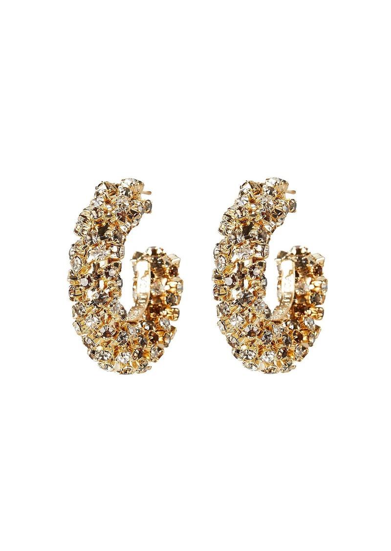 Rosantica Caos Grey Crystal Hoop Earrings