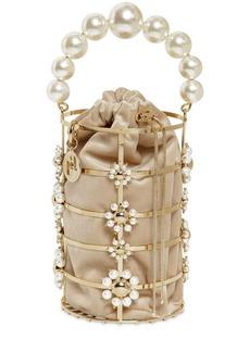 Rosantica Cassady Pearls Top Handle Bag