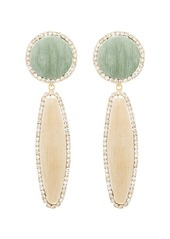 Rosantica clip-on beaded drop earrings