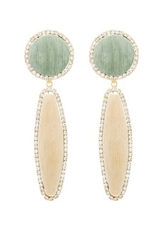 Rosantica clip-on beaded drop earrings