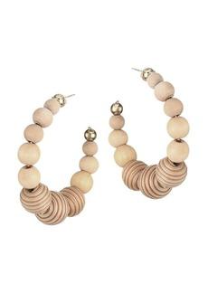 Rosantica Colonia Bead Hoop Earrings