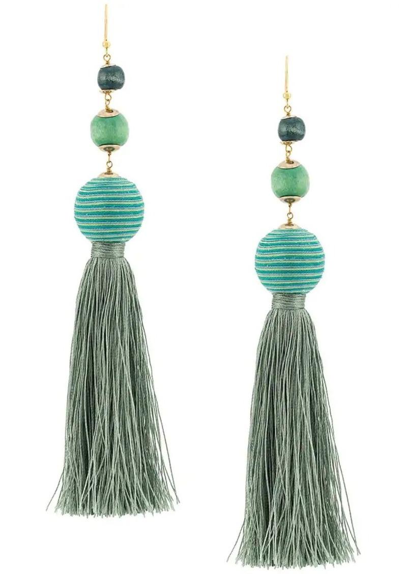 Rosantica Colonia bead tassel earrings