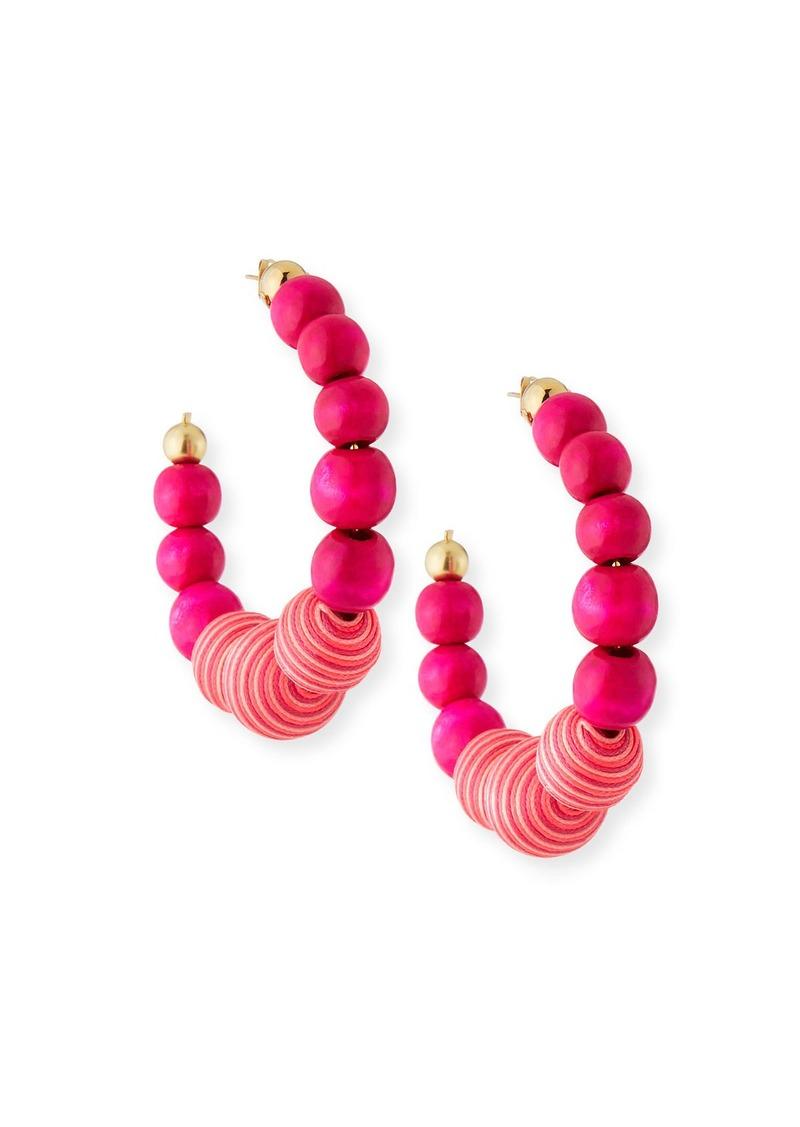 Rosantica Colonia Beaded Hoop Earrings