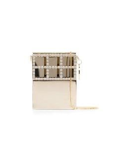 Rosantica crystal-embellished metal mini bag