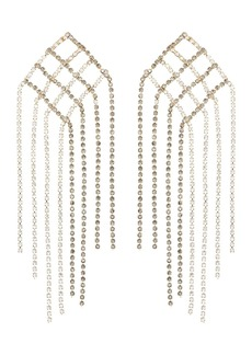 Rosantica crystal geometric drop earrings