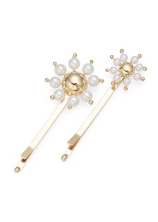 Rosantica Daisy 4MM-6MM Faux-Pearl Hair Pin Set