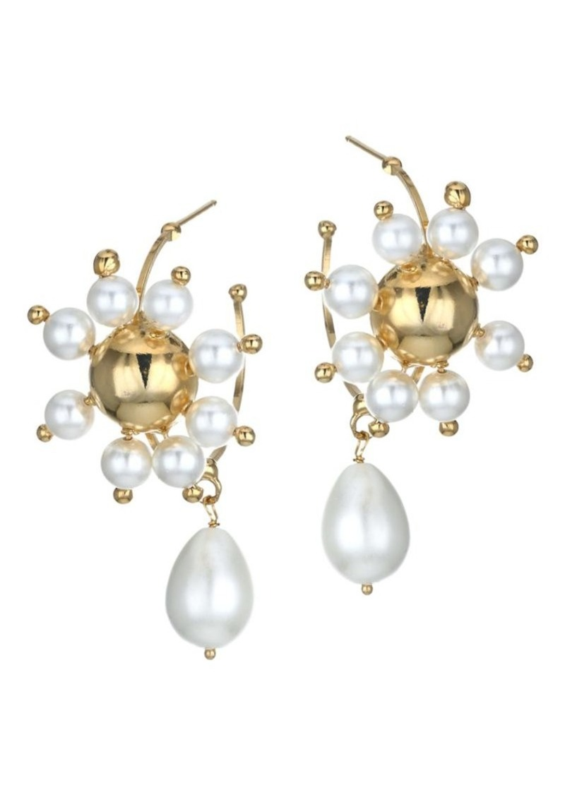 Rosantica Daisy Goldplated & Faux Pearl Earrings