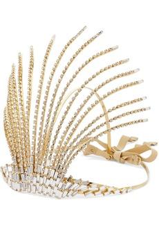 Rosantica Divinita Crystal-embellished Gold-tone Headband