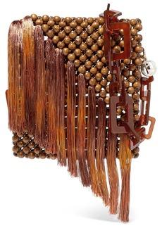 Rosantica Eddie Tasseled Beaded Shoulder Bag