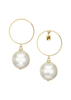 Rosantica Epica Goldtone Faux Pearl Hoop Earrings