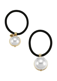Rosantica Epica Two-Piece Faux-Pearl Hair Tie Set