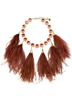 Rosantica feather crystal necklace