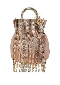 Rosantica Follie Crystal Fringe Pouch Bag