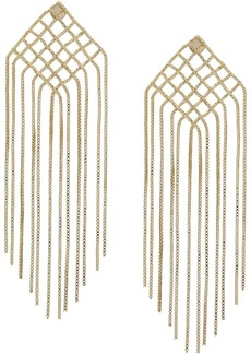 Rosantica fringed drop earrings