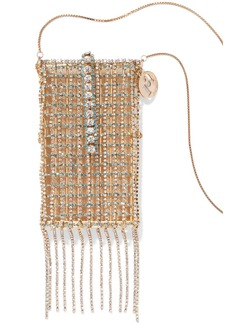 Rosantica Fringed Gold-tone Crystal Iphone X Case