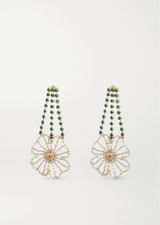 Rosantica Gold-tone Crystal Earrings