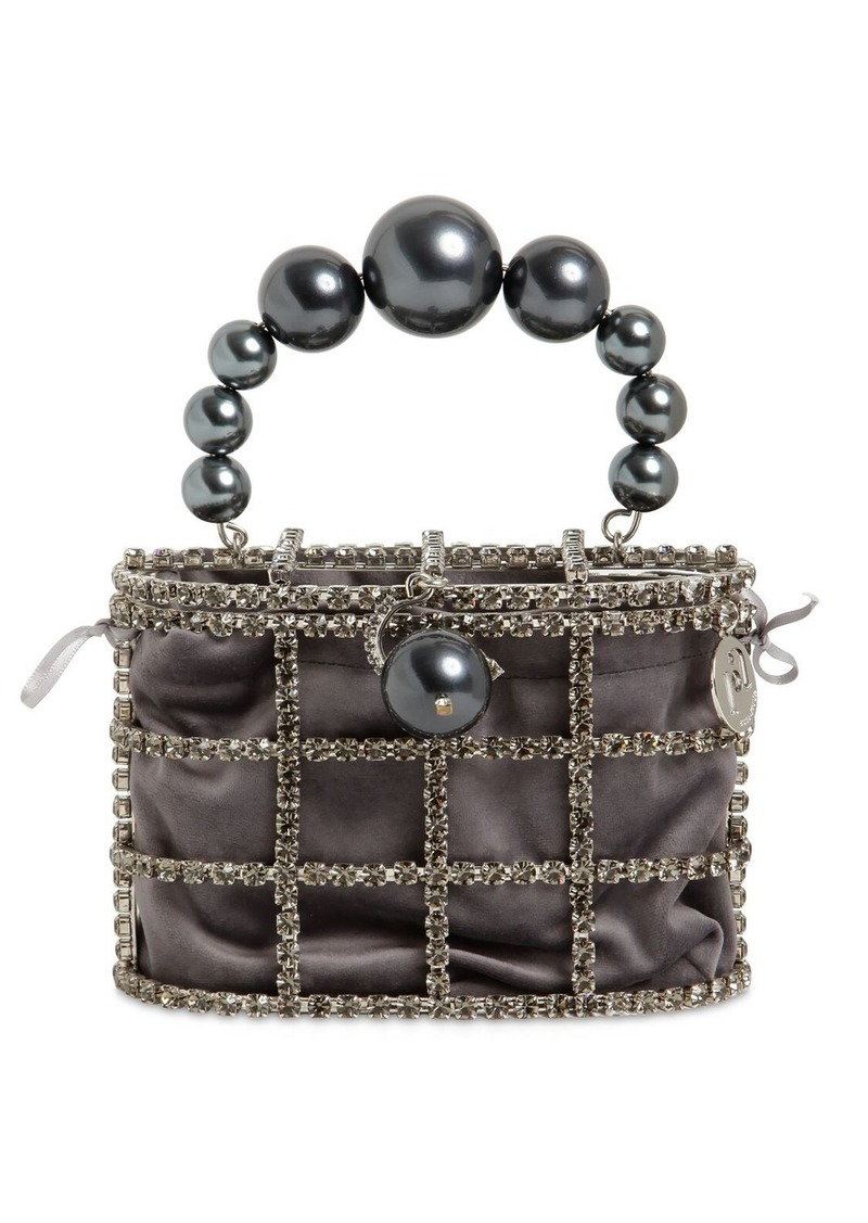 Rosantica Holli Crystal & Pearl Box Bag