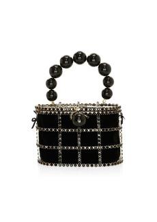 Rosantica Holli Embellished Grid Top Handle Bag