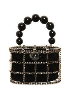Rosantica Holli Pearls Round Top Handle Bag