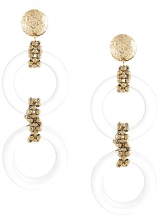 Rosantica hoop drop earrings