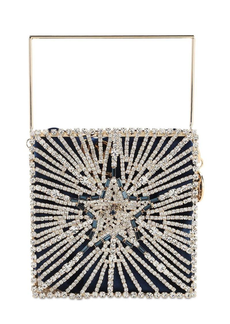 Rosantica Lanterna Crystal Top Handle Bag